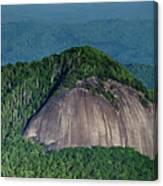 Looking Glass Rock Mountain In North Carolina Canvas Print