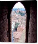 Looking Out The Window On Siena Canvas Print