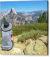 Looking Panorama At Glacier Point Canvas Print