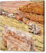 Looking Skyward From Wash 3 In Valley Of Fire Canvas Print