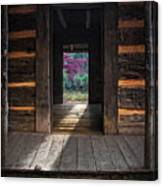 Looking Through John Oliver's Cabin Canvas Print