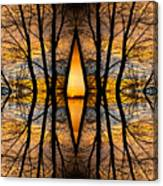Looking Through The Trees Abstract Fine Art Canvas Print