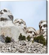 Looking Up At Mount Rushmore National Monument South Dakota Canvas Print