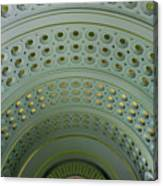 Looking Up In Union Station -- A Westward View Canvas Print