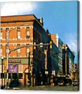 Looking Up Main Street Canvas Print
