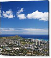 Lookout View Of Honolulu Canvas Print