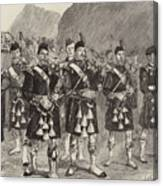 Lord Archibald Campbell And His Pipers Marching Through The Pass Of Glencoe Canvas Print