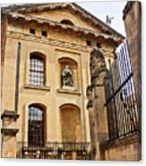 Lord Clarendon's Statue, Clarendon Building, Oxford Canvas Print