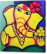 Lord Ganesh By  Sarada Tewari Acrylic Paint On Canvas 24x28inch Canvas Print