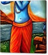 Lord Krishna- Hindu Deity Canvas Print