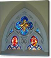 Loretto Chapel Stained Glass Canvas Print