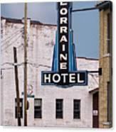 Lorraine Hotel Sign Canvas Print