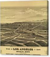 Los Angeles 1877 Canvas Print