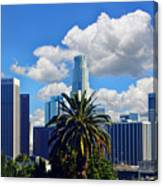 Los Angeles And Palm Trees Canvas Print