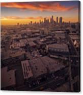 Los Angeles At Sunset Canvas Print