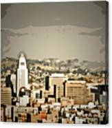 Los Angeles City Hall Canvas Print