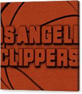 Los Angeles Clippers Leather Art Canvas Print