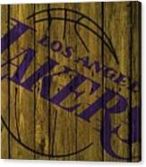 Los Angeles Lakers Wood Fence Canvas Print