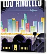 Los Angeles Poster - Retro Travel  Canvas Print