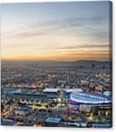 Los Angeles West View Canvas Print