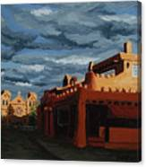 Los Farolitos,the Lanterns, Santa Fe, Nm Canvas Print