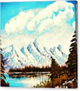 Lost Blue Lagoon - Elegance With Oil Canvas Print