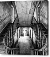 Lost Glory Staircase - Abandoned Castle Canvas Print