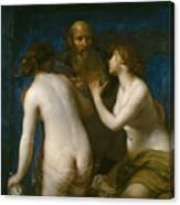 Lot And His Daughters Canvas Print