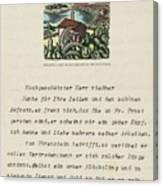 Lot Of 9 Maschinenschr. Canvas Print