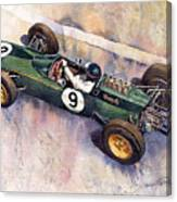 Lotus 25 F1 Jim Clark Monaco Gp 1963 Canvas Print