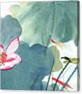 Lotus Figure Canvas Print