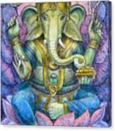 Lotus Ganesha Canvas Print