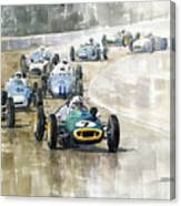 1961 Germany Gp  #7 Lotus Climax Stirling Moss Winner  Canvas Print