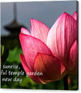 Lotus - Haiku Canvas Print