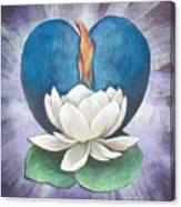 Lotus Heart Light Canvas Print