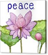 Lotus Of Peace Canvas Print