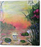 Lotus Pond Fantasy Canvas Print