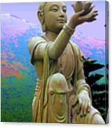 Lotus Statue Canvas Print