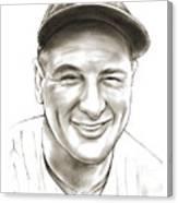 Lou Gehrig Canvas Print