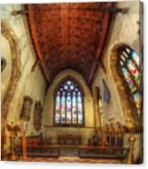 Loughborough Church - Altar Vertorama Canvas Print