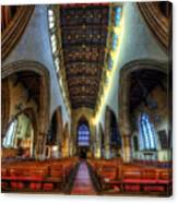 Loughborough Church - Nave Vertorama Canvas Print