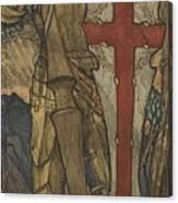 Louis B. Davis 1861-1941 St. George, Study For A Window At Wynyard Park Canvas Print