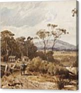 Louis Buvelot , At Ballan, 1876 Canvas Print