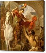 Louis Galloche - A Scene From The Life Of St. Martin Canvas Print