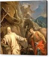 Louis Galloche - Saint Martin Sharing His Coat With A Beggar Canvas Print