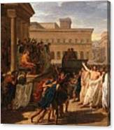 Louis Lafitte - Brutus Listening To The Ambassadors From The Tarquins Canvas Print
