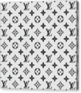 Louis Vuitton Pattern Lv 07 Grey Canvas Print