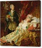 Louis Xv And Madame Dubarry Canvas Print