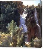 Louise-josephine Sarazin De Belmont  View Of The Falls At Tivoli Canvas Print