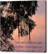 Louisiana Moss In Sunset Ps.85 V 10 Canvas Print